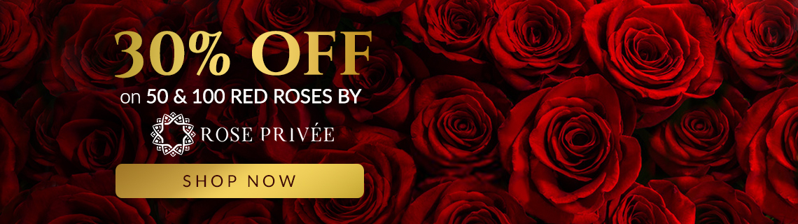 Rose Privee (50 Red Roses) - 30% OFF (v2)