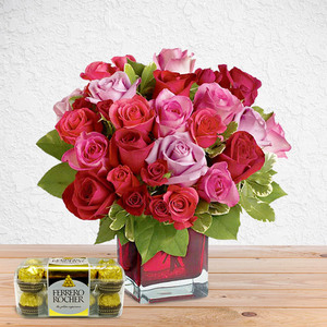 Everything's Rosey (with Free Chocolates)   Send Flowers in Dubai UAE