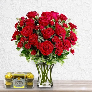 Double The Roses (with Free Chocolates) | Buy Packages / Bundles in Dubai UAE | Gifts
