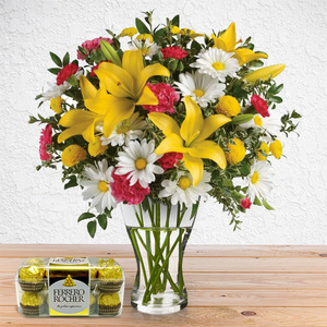 Euphoric Bouquet (with Chocolates) | Buy Packages / Bundles in Dubai UAE | Gifts