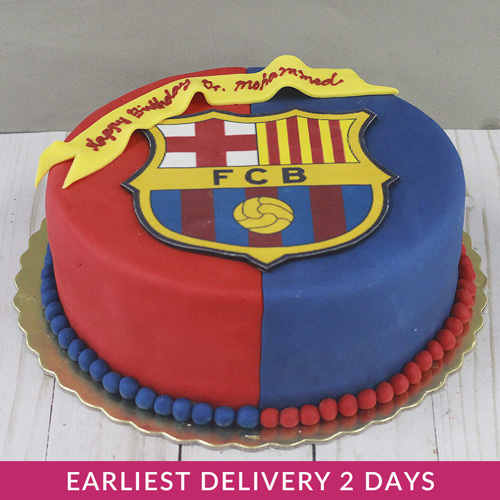 Messi Fc Barcelona Cake Buy Desserts In Dubai Uae Gifts