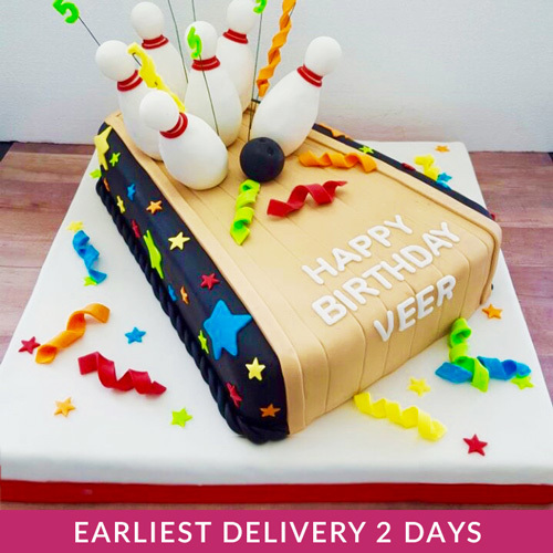 Surprising Bowling Cake Serves 25 Buy Desserts In Dubai Uae Gifts Funny Birthday Cards Online Overcheapnameinfo