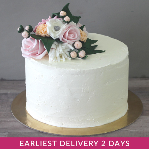 Excellent Elegant Flower Cake Buy Cakes In Dubai Uae Gifts Birthday Cards Printable Benkemecafe Filternl