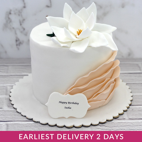 Cool White Flower Cake Buy Cakes In Dubai Uae Gifts Birthday Cards Printable Benkemecafe Filternl