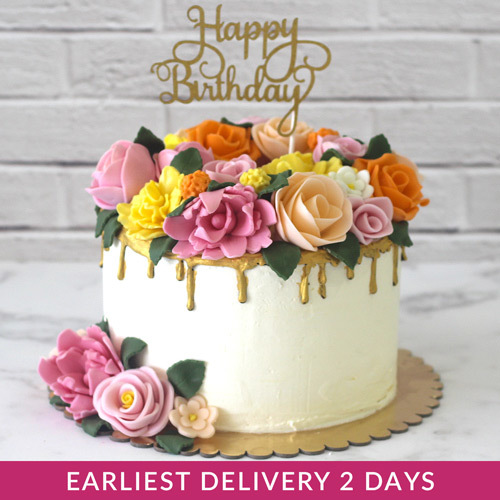 Cool Colour Flower Cake Buy Cakes In Dubai Uae Gifts Birthday Cards Printable Benkemecafe Filternl