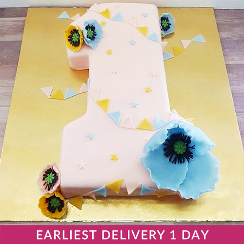 Sensational First Birthday Cake Buy Cakes In Dubai Uae Gifts Personalised Birthday Cards Veneteletsinfo