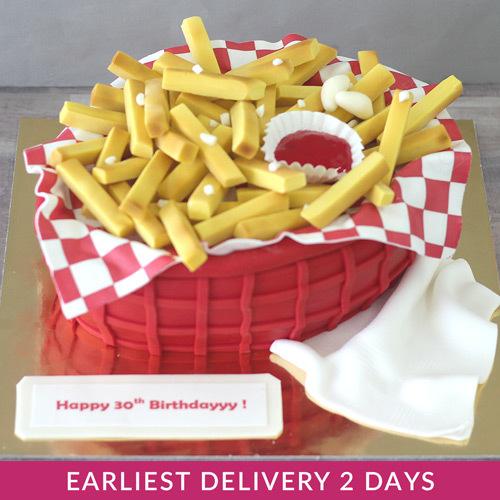 Superb French Fries Theme Cake Buy Cakes In Dubai Uae Gifts Birthday Cards Printable Benkemecafe Filternl