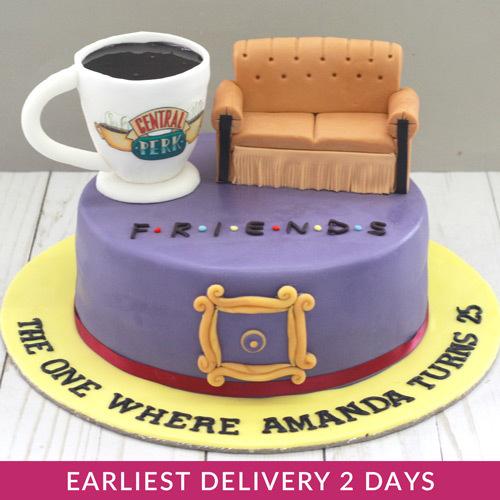 Amazing Friends Theme Cake Buy Cakes In Dubai Uae Gifts Funny Birthday Cards Online Chimdamsfinfo