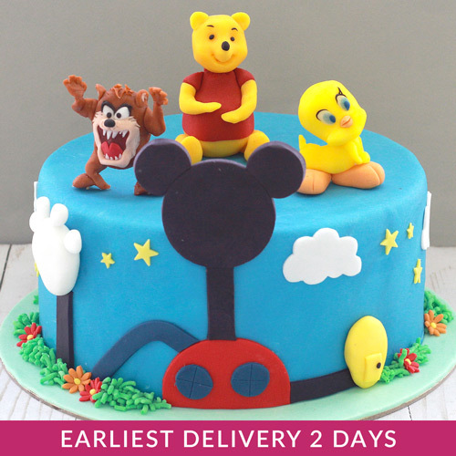 Cool Mickey Mouse Character Buy Cakes In Dubai Uae Gifts Personalised Birthday Cards Veneteletsinfo