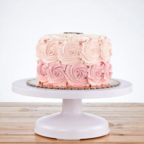 Fine Pink Rose Cake Serves 12 Buy Cakes In Dubai Uae Gifts Birthday Cards Printable Trancafe Filternl