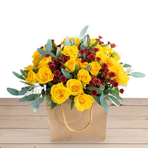 Golden Smiles Bouquet | Buy Flowers in Dubai UAE | Gifts