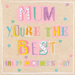 Mum You're The Best Card | Buy Stationary in Dubai UAE | Gifts