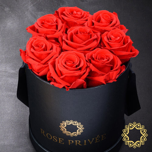 Rose Privée Black Box, Red Roses   Buy Flowers in Dubai UAE   Gifts