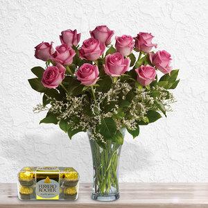 Precious Pink Roses Bundle| Buy Flowers in Dubai UAE | Gifts