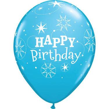 Happy Birthday Rubber Balloon Blue | Buy Balloons in Dubai UAE | Gifts