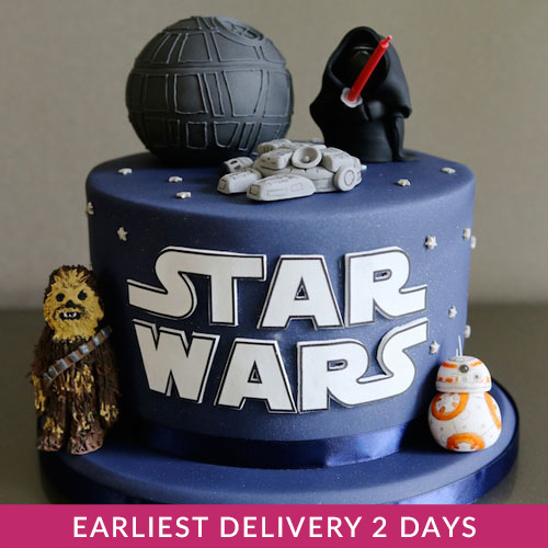 Awesome Star Wars Cake Cake Delivery In Dubai Funny Birthday Cards Online Fluifree Goldxyz