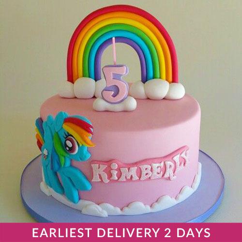 Fabulous Rainbow Dash Cake Buy Cakes In Dubai Uae Gifts Funny Birthday Cards Online Fluifree Goldxyz