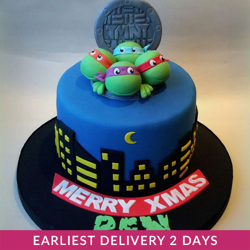 Awesome Ninja Turtles Cake Cake Delivery In Dubai Funny Birthday Cards Online Fluifree Goldxyz