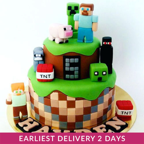 Fine Minecraft Birthday Cake Buy Cakes In Dubai Uae Gifts Funny Birthday Cards Online Inifodamsfinfo