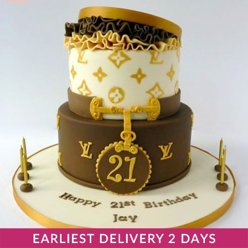 Swell Louis Vuitton Cake Buy Cakes In Dubai Uae Gifts Birthday Cards Printable Benkemecafe Filternl