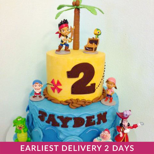 Tremendous Jake And The Neverland Pirates Cake Buy Cakes In Dubai Uae Gifts Funny Birthday Cards Online Inifodamsfinfo