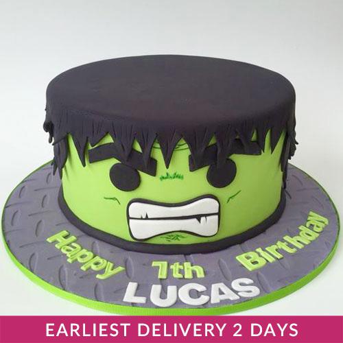 Pleasant Hulk Cake Buy Cakes In Dubai Uae Gifts Funny Birthday Cards Online Alyptdamsfinfo