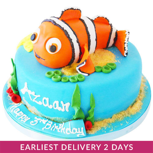 Wondrous Finding Nemo Cake Cake Delivery In Dubai Personalised Birthday Cards Cominlily Jamesorg