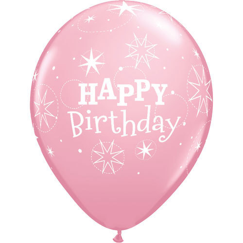 Happy Birthday Rubber Balloon Light Pink   Buy Balloons in Dubai UAE   Gifts