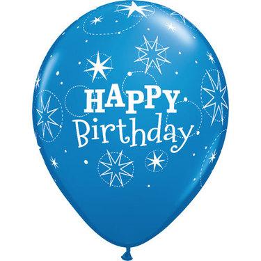 Happy Birthday Rubber Balloon Blue 2 | Buy Balloons in Dubai UAE | Gifts