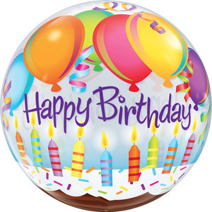Happy Birthday Clear Plastic Balloon | Buy Balloons in Dubai UAE | Gifts