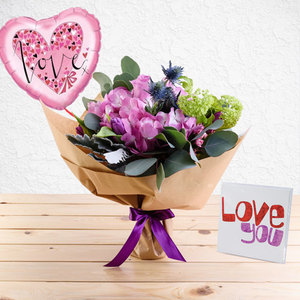 Brilliance Package with (Premium love Card and Balloon) | Buy Packages / Bundles in Dubai UAE | Gifts