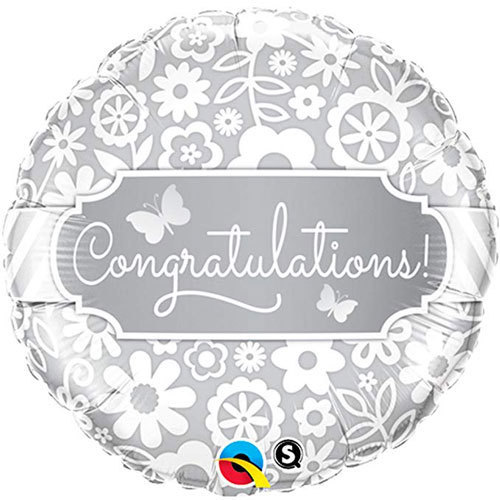 Congratulations! Elegant Foil Balloon | Buy Balloons in Dubai UAE | Gifts