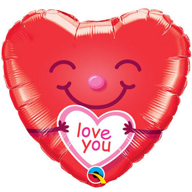Love You Smiley Heart | Buy Balloons in Dubai UAE | Gifts