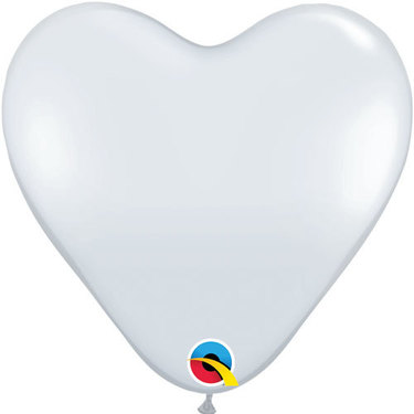 Heart Rubber White Balloon | Buy Balloons in Dubai UAE | Gifts
