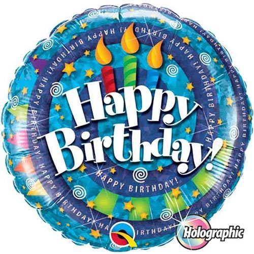 Happy Birthday Foil Balloon 3 | Buy Balloons in Dubai UAE | Gifts