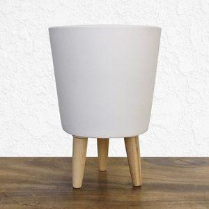 Tall White Pot
