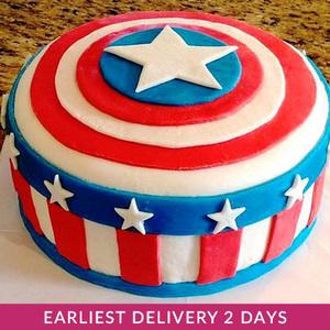 Captain America Cake | Cake Delivery in Dubai