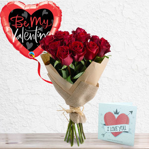A Bunch of Roses Package (Premium Large Roses) | Buy Flowers in Dubai UAE | Gifts