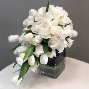 Loyal Love Cascading Bridal Bouquet | Buy Bridal Bouquets in Dubai UAE | Wedding flowers