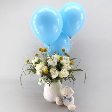 Sweet Blessings Blue Package | Buy Flowers in Dubai UAE | Gifts