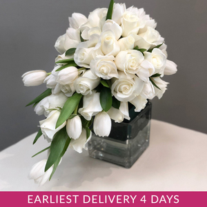 Loyal Love Cascading Bridal Bouquet | Buy Bridal Bouquets in Dubai UAE | Wedding flowers