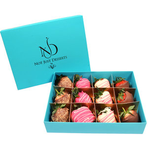 NJD Chocolate Covered Strawberries - 12pcs | Buy Chocolates in Dubai UAE | Gifts