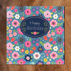 Happy Birthday Flower Premium Card | Buy Birthday Cards in Dubai UAE | Gifts