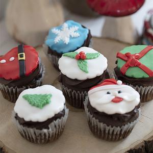 Christmas Cupcakes by Pastel  Buy Christmas Flowers in Dubai UAE   Gifts