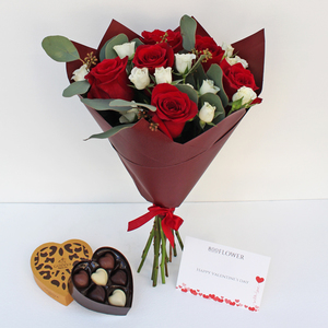 True Love Bouquet with Chocolates | Buy Flowers in Dubai UAE | Gifts