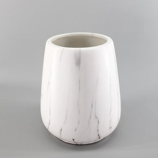 Square White Pot
