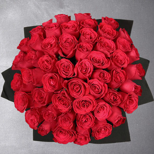 50 Red Roses by Rose Privee Valentine | Buy Flowers in Dubai UAE | Gifts