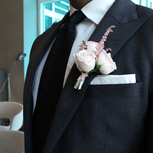 Eternal Love Boutonniere | Buy Bridal Bouquets in Dubai UAE | Wedding flowers