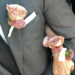 True Romance Corsage   Buy Bridal Bouquets in Dubai UAE   Wedding flowers