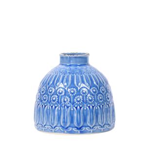 Ceramic Vase Narrow Blue - Small